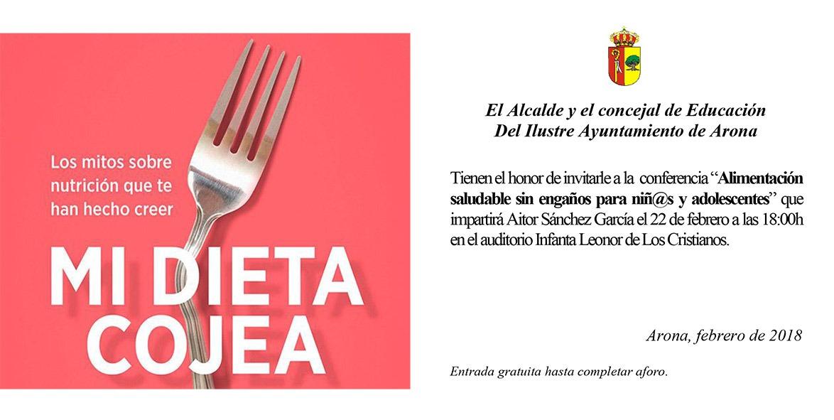 """Actividad Complementaria dirigida al Alumnado de 4º ESO: """"Mi dieta Cojea"""""""