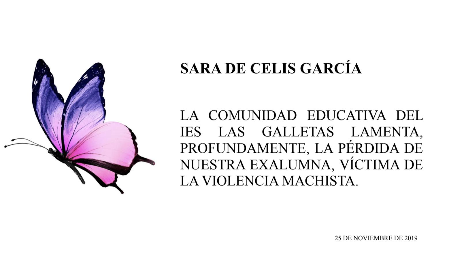 Sara De Celis García para siempre en nuestros corazones