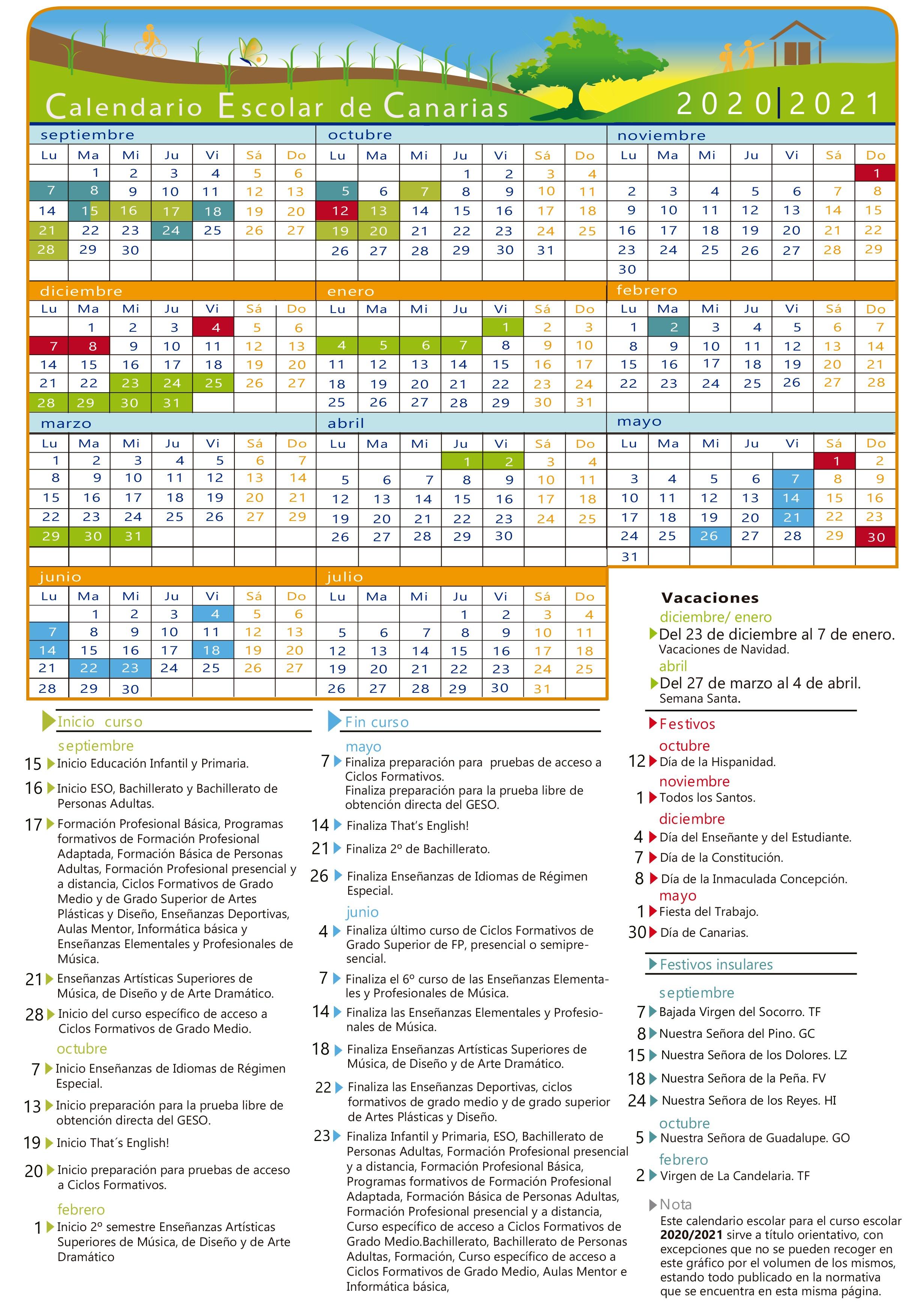 Calendario Escolar 2020-2021